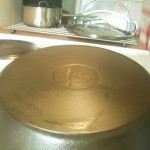 A reconditioned fryingpan