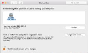 MacOSX Preferance Pane Startup Disk